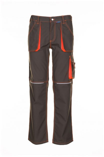Basalt Neon Arbeitskleidung Bundhose oliv/orange