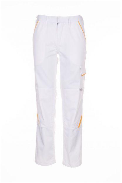Highline Arbeitskleidung Bundhose reinweiß/reinweiß/gelb