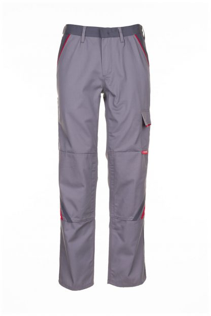 Highline Arbeitskleidung Bundhose zink/schiefer/rot