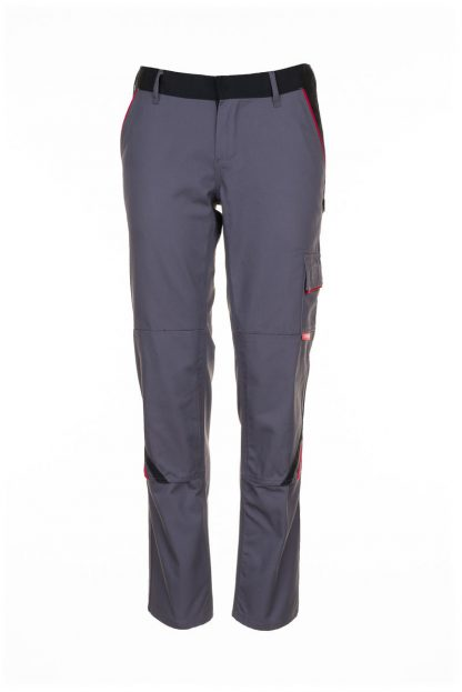 Highline Arbeitskleidung Damen Bundhose schiefer/schwarz/rot