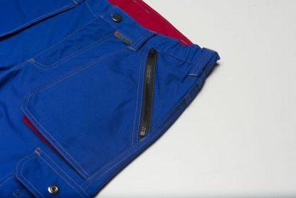 Basalt Arbeitskleidung Bundhose kornblau/rot