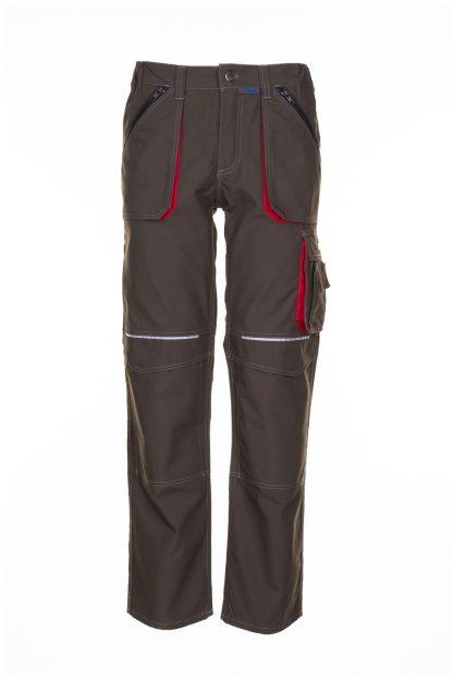 Basalt Arbeitskleidung Bundhose oliv/rot