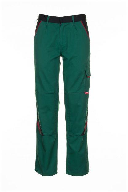 Highline Arbeitskleidung Bundhose grün/schwarz/rot