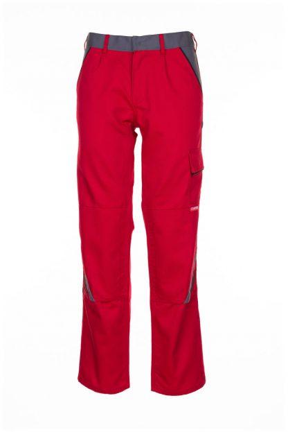 Highline Arbeitskleidung Bundhose rot/schiefer/schwarz