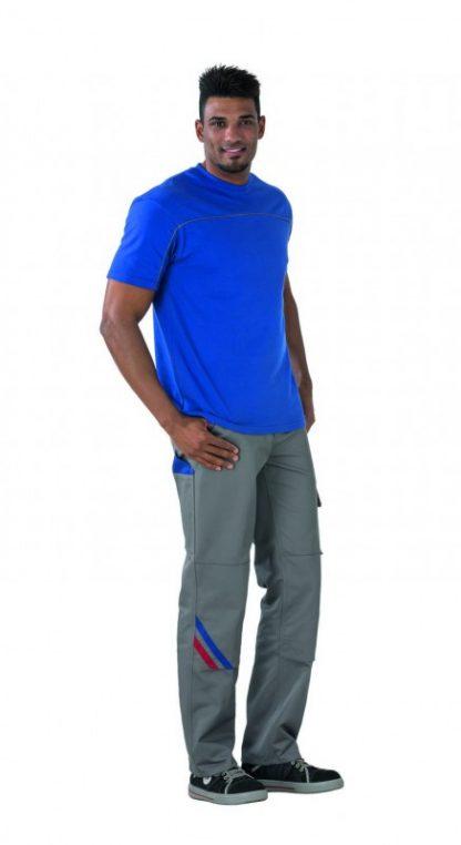 Highline Arbeitskleidung Bundhose zink/kornblau/rot