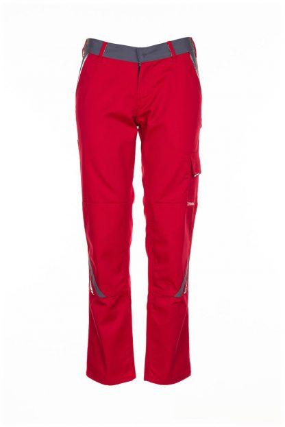 Highline Arbeitskleidung Damen Bundhose rot/schiefer/schwarz