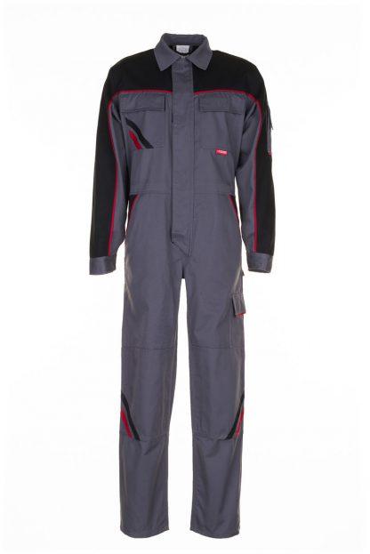 Highline Arbeitskleidung Rallyekombi schiefer/schwarz/rot